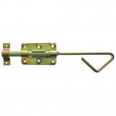 Задвижка удлиненная 60x100x16x320 мм, сталь оцинкованная