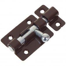 Задвижка прямоугольная Левша ШП-40, 60х30 мм, цинк/сталь, цвет коричневый