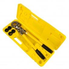 Комплект пресс-инструмент + насадки, для опрессовки гильз, пресс-соединителей, трубопроводных систем