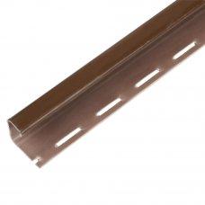 J-профиль для фасадных панелей FINEBER 3000 мм цвет коричневый