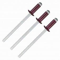 Заклёпка Matrix RAL3005 3.2х8 мм цвет красное вино 50 шт.