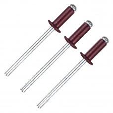 Заклёпка Matrix RAL3005 4х10 мм цвет красное вино 50 шт.