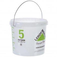 Ведро 5л, пищевой пластик