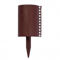 Бордюр садовый декоративный «Пеньки» цвет коричневый