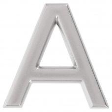 Буква «А» Larvij самоклеящаяся 40x32 мм пластик цвет матовый хром