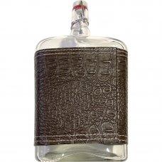 Бутыль «Викинг» 1.75 л в кожаном чехле, с бугельной пробкой