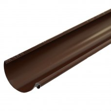 Желоб полукруглый 2000 D125 мм цвет коричневый