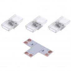 Комплект для светодиодной ленты: Т-образный коннектор, 3 клипсы, 2 разъёма «игла», 8-10 мм, IP20
