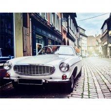 Декопанно «Белый автомобиль», 40x50 см
