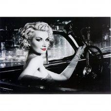Декопанно «Девушка за рулем», 50x70 см