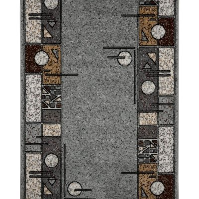 Дорожка ковровая «Лайла де Люкс» 1604-66, 1 м, цвет серый