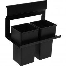 Держатель двух стаканов Lund для рейлинга металл/пластик цвет чёрный