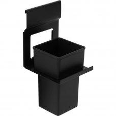Держатель стакана Lund для рейлинга металл/пластик цвет чёрный