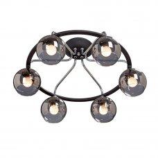 Люстра потолочная «Арена», 6 ламп, 18 м², цвет чёрный