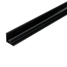 F-профиль угловой для стеновой панели 600х15.7х15.7 мм, цвет чёрный