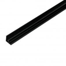 F-профиль угловой для стеновой панели 600х15х7 мм, цвет чёрный