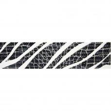 Бордюр Golden Tile Кайман Фриз 25x6 см цвет чёрный