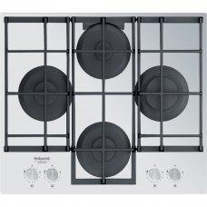 Варочная панель газовая Hotpoint HAGS 61F/WH, 4 конфорки, 59x51 см, цвет белый