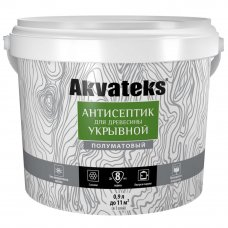 Антисептик Akvateks база A полуматовый белый 0.9 л