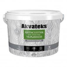 Антисептик Akvateks база A полуматовый белый 2.7 л