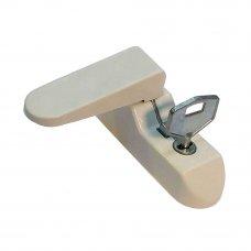 Блокиратор оконный флажковый с ключом 2.2x6.7 см, сталь, цвет белый