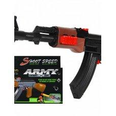 Автомат механический АК-47 2в1 резиновые пули+мягкие пули SY009A/ZYB-B3268