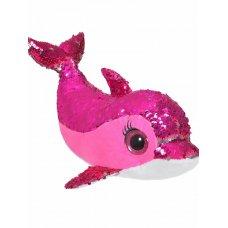 Мягкая игрушка Дельфин Сияна розовая с пайетками 35 см CYS4583-2 ТМ Коробейники
