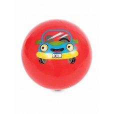 Мяч детский 15см красный с Машиной