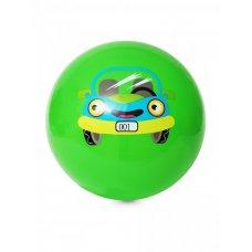 Мяч детский 20см зеленый с Машиной