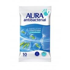 AURA Влажные носовые платочки Antibacterial pocket-pack 10шт