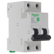 Автоматический выключатель SE Easy 9 [2П, 16А, В, 4,5кА, 230В] (EZ9F14216)