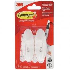Крючки Command 17068, прямые, 2 шт/упак, белый