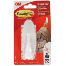 Дизайн-крючок Command 17083, большой, 1 шт/2пол, белый