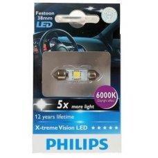 Cветодиодная лампа Philips Festoon X-tremeVision LED T10,5x38 6 000 K