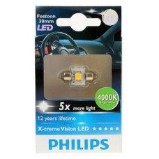 Cветодиодная лампа Philips Festoon X-tremeVision LED T14x30 4 000 K